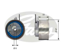 GATES Tensioner Pulley: T43174