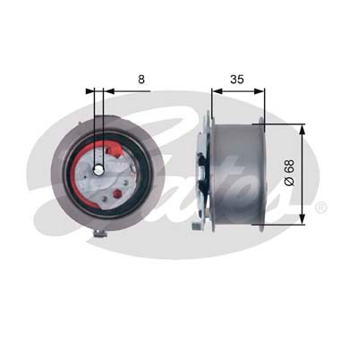 GATES Tensioner Pulley: T43181