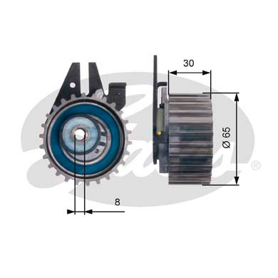 GATES Tensioner Pulley: T43211