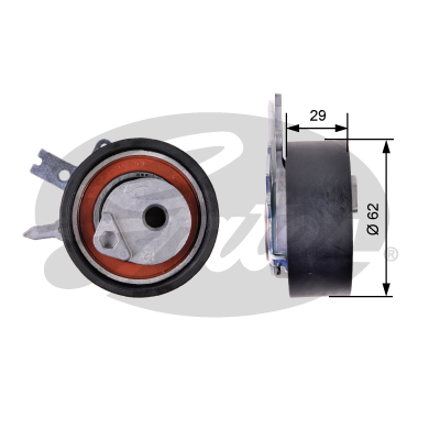 GATES Tensioner Pulley: T43218