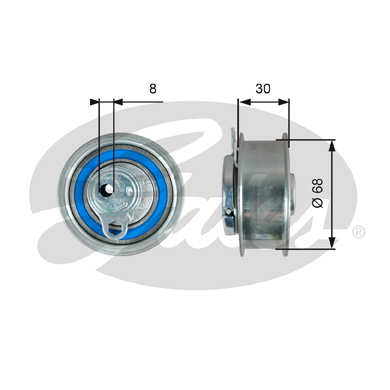 GATES Tensioner Pulley: T43219