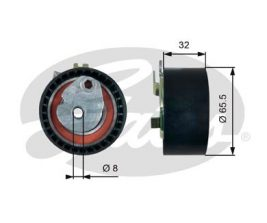 GATES Tensioner Pulley: T43238