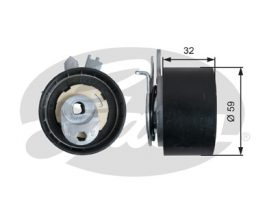 GATES Tensioner Pulley: T43240