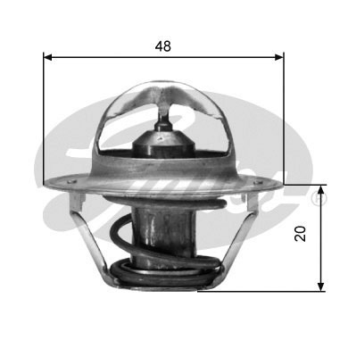 GATES Coolant Thermostat: TH00388G1