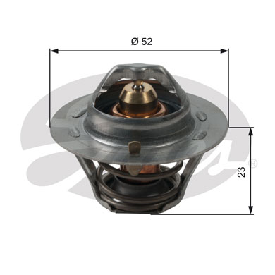 GATES Coolant Thermostat: TH14088G1