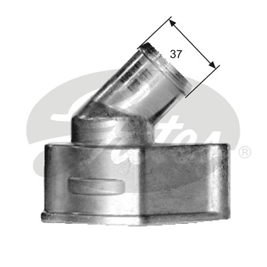 GATES Coolant Thermostat: TH15087G1