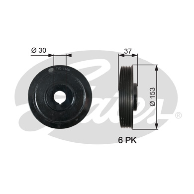 GATES Pulley: TVD1006