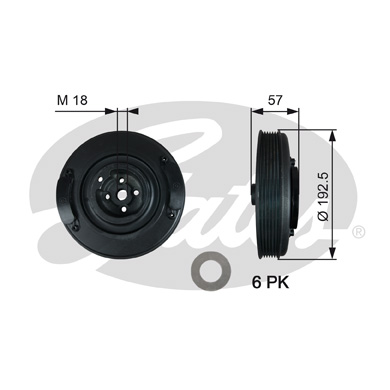 GATES Pulley: TVD1033
