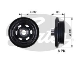 GATES Pulley: TVD1089