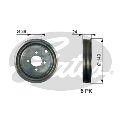 GATES Pulley: TVD1099