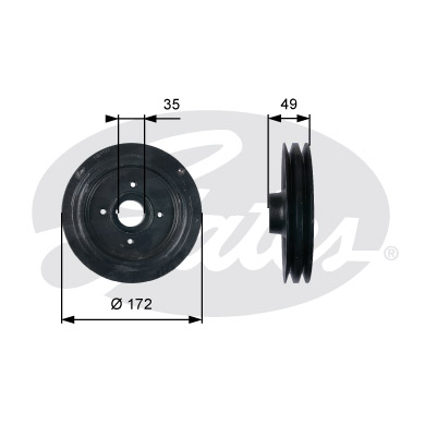 GATES Pulley: TVD1123