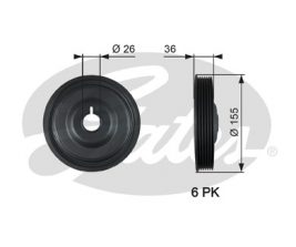 GATES Pulley: TVD1126