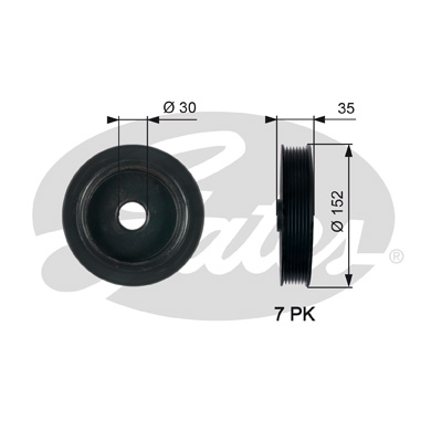 GATES Pulley: TVD1127