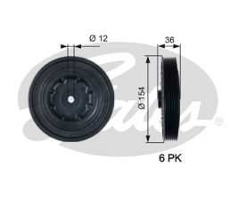 GATES Pulley: TVD1128