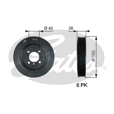 GATES Pulley: TVD1129